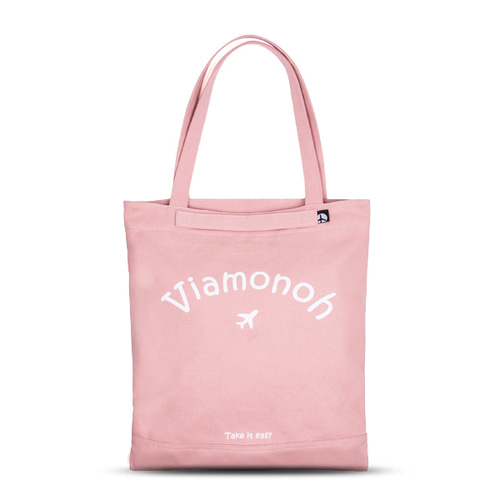 VIAMONOH PLAYFUL CANVAS ECOBAG (PINK)