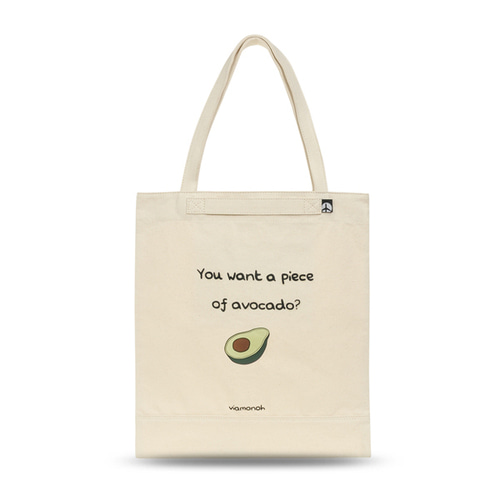 VIAMONOH PLAYFUL CANVAS ECOBAG (SAND)